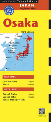 Osaka Travel Map - Periplus Maps (Sheet map, folded)