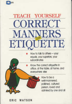 Correct Manners and Etiquette (Paperback)