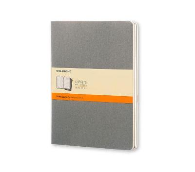 Moleskine Pebble Grey Ruled Cahier Extra Large Journal - Moleskine Cahier (Notebook / blank book)