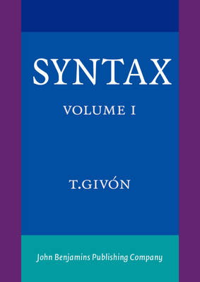 Syntax: v. 1: A Functional-typological Introduction (Paperback)