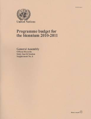 Programme Budget for the Biennium 2010-2011 (Paperback)