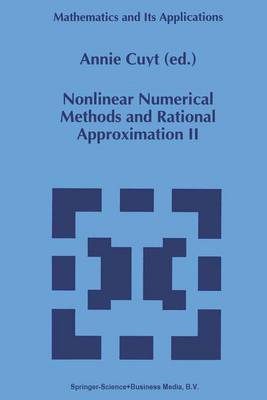 Nonlinear Numerical Methods and Rational Approximation II - Mathematics and its Applications 296 (Paperback)