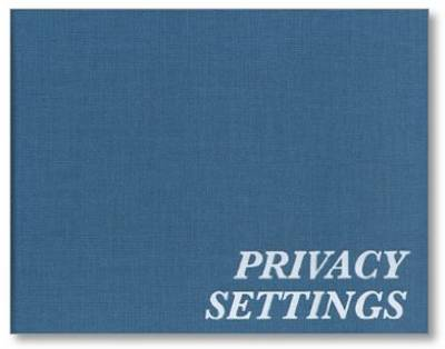Erik Van Der Weijde - Privacy Settings (Hardback)
