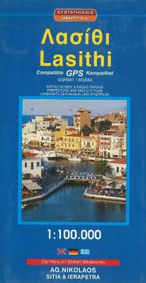 Lasithi Prefecture Map & City Plan (Paperback)