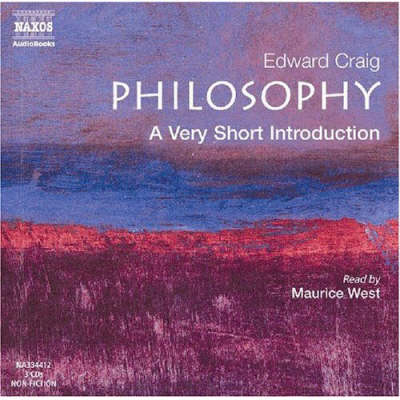 Very Short Introductions: Philosophy (CD-Audio)