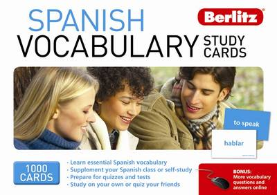 Berlitz: Spanish Vocabulary Study Cards - Berlitz Vocabulary Study Cards (Cards)