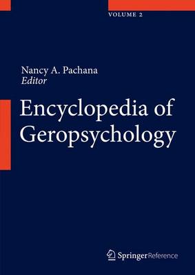 Encyclopedia of Geropsychology 2017