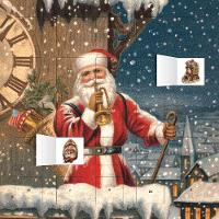Snowy Santa Claus Advent Calendar (with Stickers)